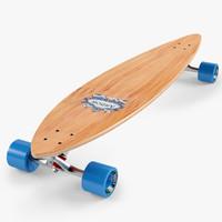 3d model longboard 46 inch