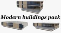 pack modernist buildings interiors 3d model