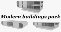 pack modernist buildings interiors 3d 3ds