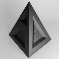 3ds max pyramid object sci fi