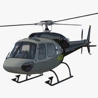3d model eurocopter 355 2