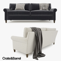 3d model crate barrel montclair sofa