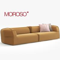 3d model modern sofa moroso
