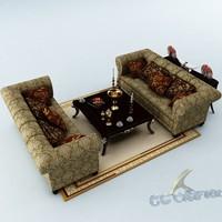 3d model of sofa set