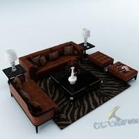 3ds max sofa set