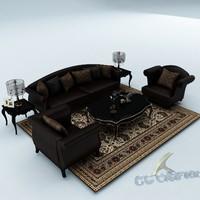 sofa set 3d max