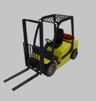 3d model fork lift truck