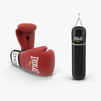 3ds max boxing bag gloves 1