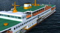 3d realistic ferry istanbul model