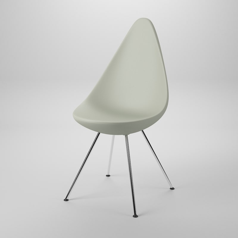 3d chair arne jacobsen model for Arne jacobsen drop chair