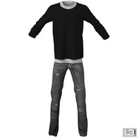 man clothes 3d model