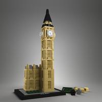 3d lego bigben model