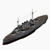 3d model dreadnought battleship helgoland class
