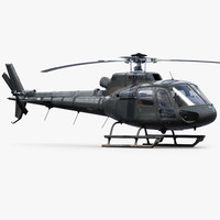 3d model eurocopter h125 private