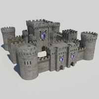 - medieval castle 1 3d model