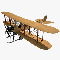 royal aircraft b e 3d 3ds