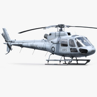 h125 military helicopter 3d model