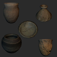 reconstruction set vases 5 3d model