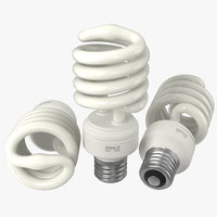 c4d energy saving light bulb