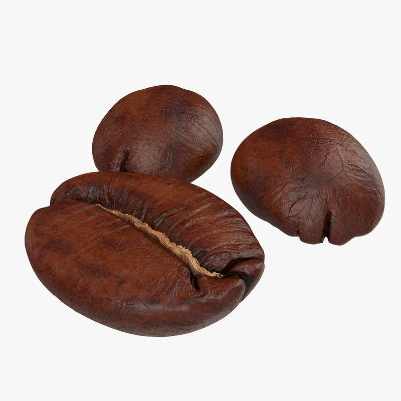 Roasted Coffee Bean 3d model 01.jpg