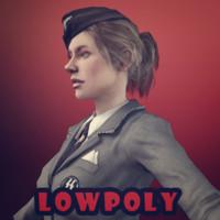 3d model nazi girl