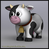 res cute cartoon cow 3d ma