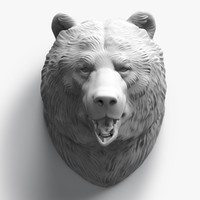 maya bear head sculpture
