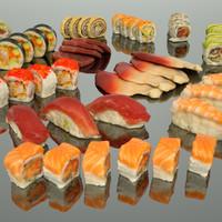 sushi photorealistic obj
