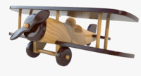 wooden airplane toy 3d 3ds