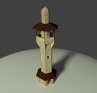 3d model arab building minaret