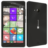 3d model microsoft lumia 540 black