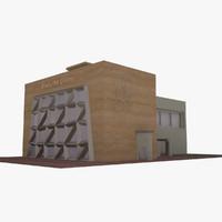 modern art gallery 3d max