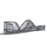 coney roller coaster 3d obj