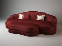 anemone sofa ottoman galimberti 3d model