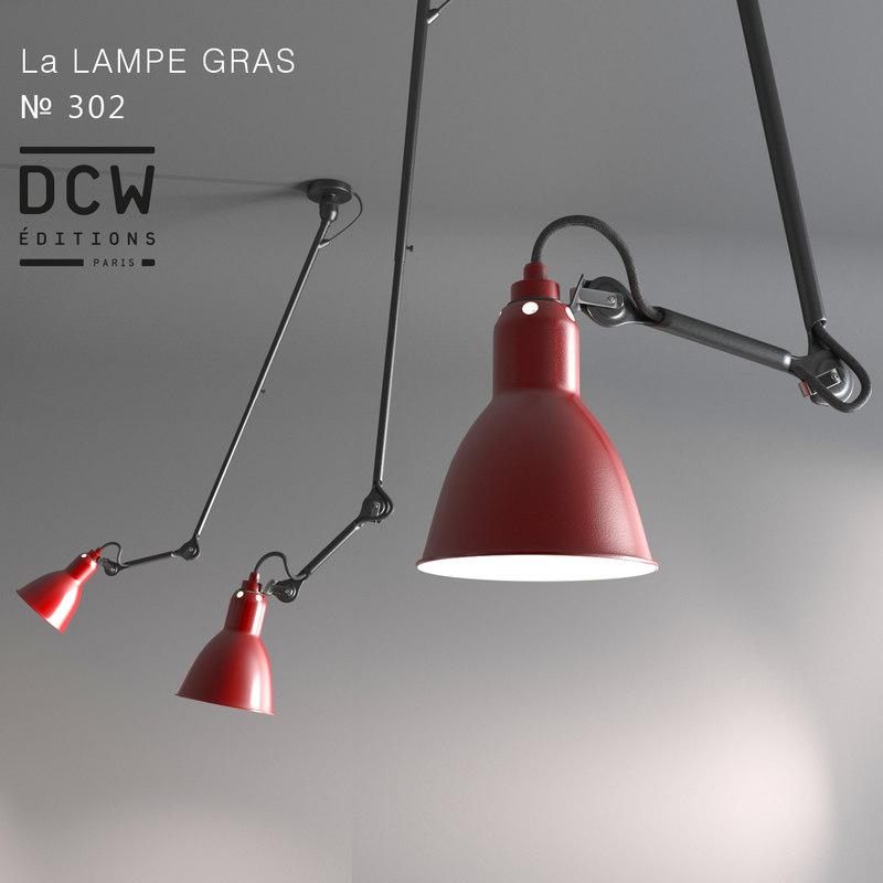 3d model chandelier la lampe gras. Black Bedroom Furniture Sets. Home Design Ideas