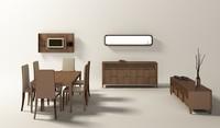 noble dining room 3d fbx