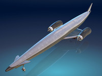 skylon space shuttle spaceplane 3d model