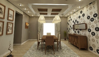 noble dining room 3d max