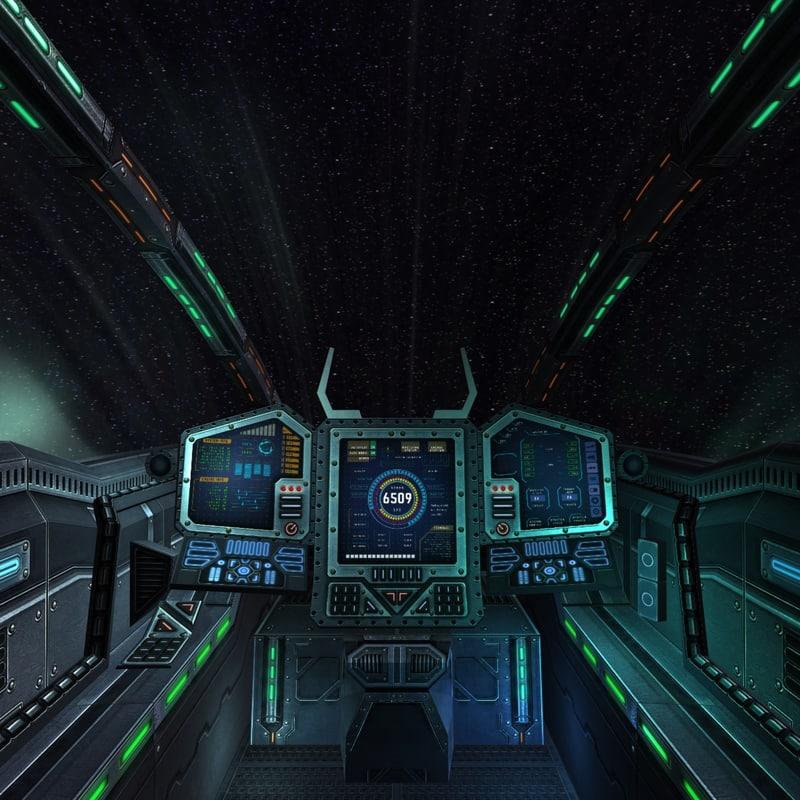 3d model sci fi spaceship cockpit for 11553 sunshine terrace