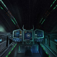 3d model sci-fi spaceship cockpit -