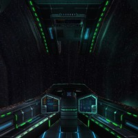 3ds max sci-fi spaceship cockpit -