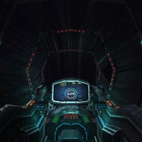 sci-fi spaceship cockpit - 3d 3ds