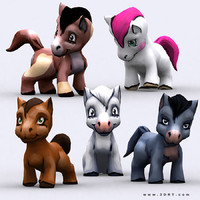chibi animal pony 3d 3ds