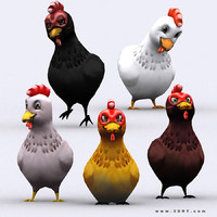 chibii - chicken animals 3d 3ds
