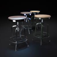 vintage-toledo-barstool 3d max