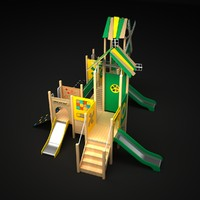 playground outdoor play 3d model