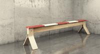 ikea balance bench 3d model