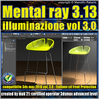 Mental ray 3.13 in 3dsmax 2016 Vol.3 illuminazione cd front