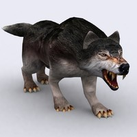fantasy animal - wolf 3d model