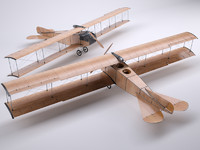 3d wood airplane